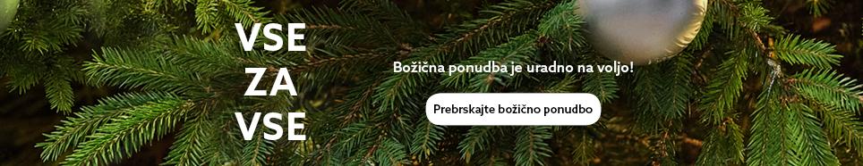 Božična prodajalna je odprta HP Banner_Slovene